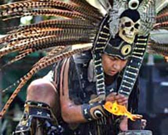 Aztec Indian Fire Dancer