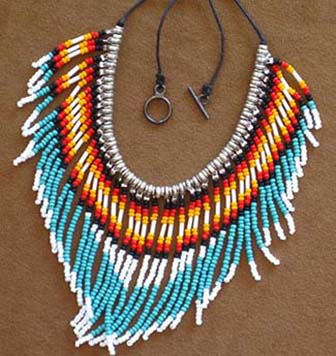 Authentic Native American Bead Necklace