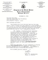 Congressional Letter to Congress