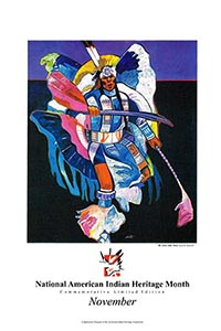 The 1st Commemorative National American Indian Heritage Month Poster
